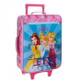Dečiji kofer Disney Brend: Disney Princess Linija proizvođača: Princess Rainbow Materijal: mikrofiber, PVC Spoljašnje dimenzije: 35 x 50 x 18 cm Zapremina: 25 l Masa kofera: 1.8 kg 2 silikonska točkića Teleskopska ručka za vuču Ručke za nošenje u ruci, sa gornje i sa bočne strane kofera Zakopčavanje: rajsferšlus Veliki spoljašnji prednji džep sa rajsferšlusom U unutrašnjosti su elastične trake za pričvršćivanje stvari