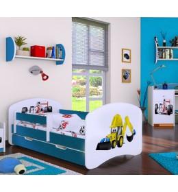 Dečiji krevet Baloo Happy bager plavi 160×80