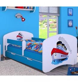 Dečiji krevet Baloo Happy brodić plavi 180x90