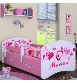 Dečiji krevet Baloo Happy heart roze 160×80