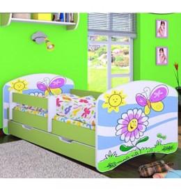 Dečiji krevet Baloo Happy leptirić zeleni 180x90