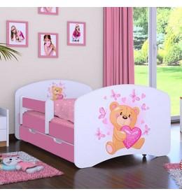 Dečiji krevet Baloo Happy meda rozi 160×80