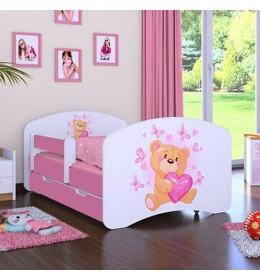 Dečiji krevet Baloo Happy meda rozi 180x90