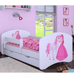 Dečiji krevet Baloo Happy princeza sa konjićem beli 160×80