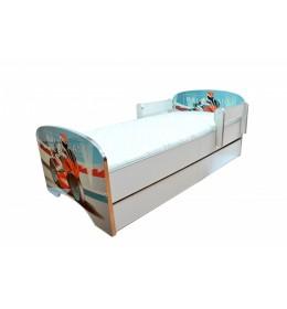 Krevet za decu Blue Motor sa dve fioke 160x80 cm model 803