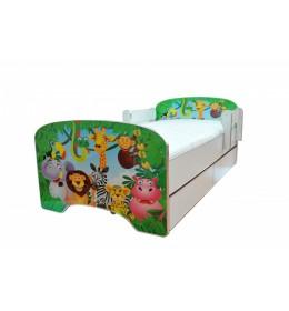 Krevet za decu Green Jungle sa dve fioke 160x80 cm model 803