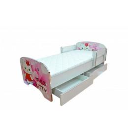Krevet za decu Pink Kitty sa dve fioke 160x80 cm model 803