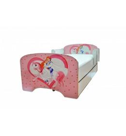 Krevet za decu Pink Princess sa dve fioke 160x80 cm model 803