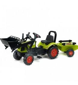 Dečiji traktor na pedale Falk Arion 410 sa prikolicom i kašikom