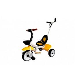 Dečiji tricikl sa ručicom za guranje model 429 Žuta
