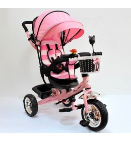 Dečiji tricikl sa tendom model 406 Roze