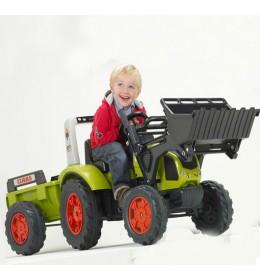 Dečiji traktor na pedale Falk Class sa prikolicom i utovarivačem