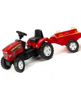 Dečji traktor na pedale sa prikolicom Mustang