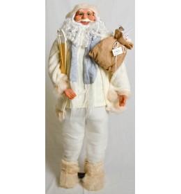 Deda Mraz sa džakom i skijama beli 120cm