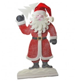 Deda Mraz sa postoljem Novogodišnja dekoracija155 cm