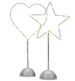 Dekoracija Star-heart LED