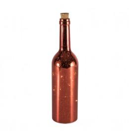 Dekorativna flaša sa mikro LED diodama Bronza