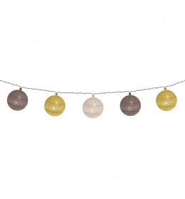 Dekorativni LED niz sa pamučnim kuglicama 1.8 m CBL11
