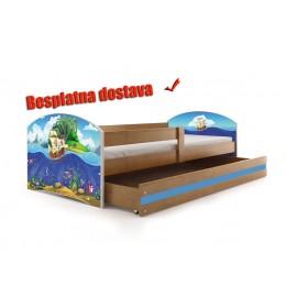 Dečiji krevet Lookie Adler 160x80 cm sa dušekom dezen 04