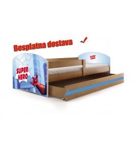 Dečiji krevet Lookie Adler 160x80 cm sa dušekom dezen 09