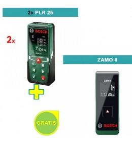Digitalni laserski daljinomer Bosch PLR 25 sa poklonom Bosch Zamo II