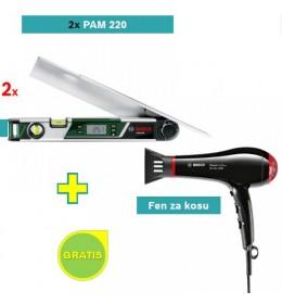 Digitalni merač uglova Bosch PAM 220 2 kom+ poklon Bosch fen za kosu
