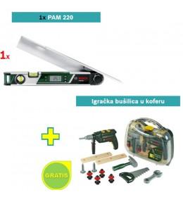 Digitalni merač uglova Bosch PAM 220 + igračku bušilicu u koferu GRATIS