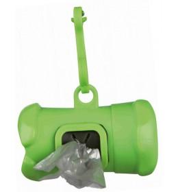 Dispenzer za higijenske kesice sa kukom za kačenje Zelena
