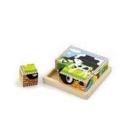 Drvene kocke (puzzle) farma 6 kom