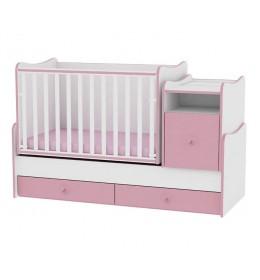 Drveni Krevetac Trend Plus White-Pink