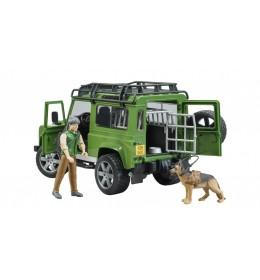 Džip Land Rover sa sumarom i lovačkim psom Bruder 025878