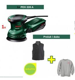 Ekscentar brusilica Bosch PEX 220 A + Bosch prsluk i duks