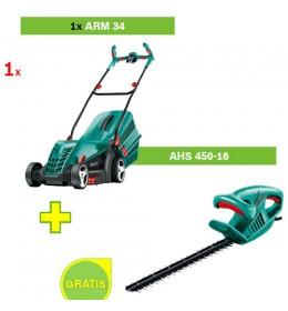 Električna kosilica za travu Bosch ARM 34 + Trimer za živu ogradu Bosch AHS 450-16
