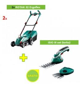 Električna kosilica za travu Bosch Rotak 32 ErgoFlex 2 kom + ISIO III set GRATIS