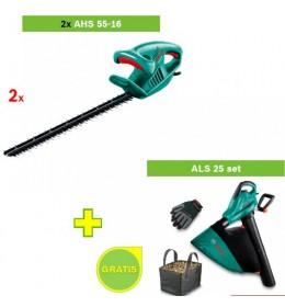 Električne makaze za živu ogradu Bosch AHS 55-16 2 kom+ Usisivač lišća ALS 25 set