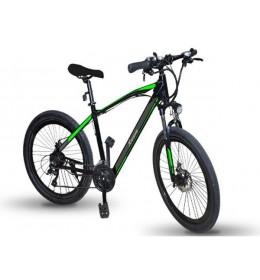 Električni bicikl crno zeleni Xwave E-bike
