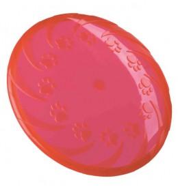 Frizbi termoplastične gume 22 cm crvena