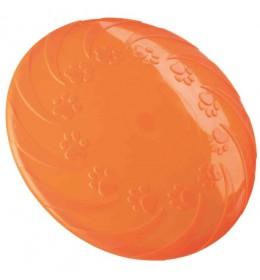 Frizbi termoplastične gume 18 cm narandžasta