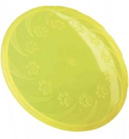 Frizbi termoplastične gume 18 cm žuta