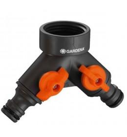 Gardena dvokanalni razvodni ventil, 1 ili 3/4 cola na 2x1/2 cola