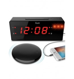 Bežični Smart budilnik Luv JUMBO LED Alarm Clock with wireless Alarm Shaker Black