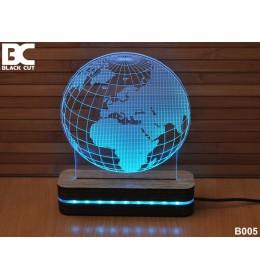 3D lampa Globus plavi