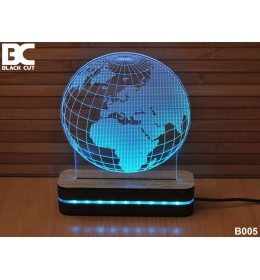 3D lampa Globus crveni