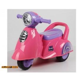Glory Bike guralica dečija vespa roze