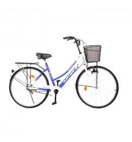 """Ženski gradski bicikl Glory Bike 26"""" Plavi"""