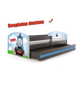 Dečiji krevet Lookie Graphite 160x80 cm sa dušekom dezen 10