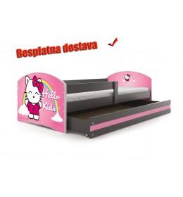 Dečiji krevet Lookie Graphite 160x80 cm sa dušekom dezen 03