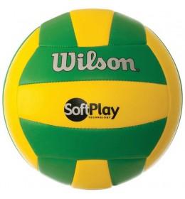 Lopta za odbojku Soft Play green/yellow WTH3501XB