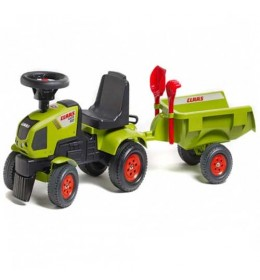 Traktor guralica za decu sa prikolicom Claas