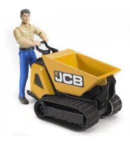 Guseničar JCB ručni sa figurom Bruder 620042